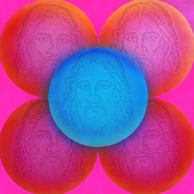 LOVE JESUS 190×190 cm